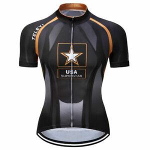 Men's Cycling Jersey Clothing Bicycle Sportswear Short Sleeve Bike Shirt L