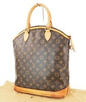 Authentic LOUIS VUITTON Lockit Vertical Monogram Tote Handbag Purse #32798