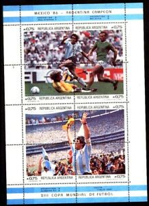 ARGENTINA 1986 FOOTBALL SOCCER MARADONA WORLD CUP MEXICO 86 S/SHEET YV BL 33-4