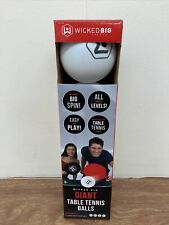 Wicked Big Giant Table Tennis Balls - Set of 4 - New