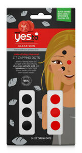 Yes To Tomatoes Clear Skin Detoxifying Charcoal Spot ZIT ZAPPING DOTS x 24