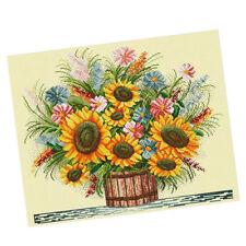 Cross Stitch Embroidery Kits DIY Needlework- Sunflower(Stamped) 11CT 57x49cm