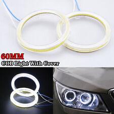 60mm LED White COB Angel Eye Halo Car Light Ring Headlight DRL Lamp Super Bright