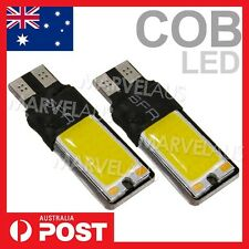 2 x T10 COB LED White W5W Car Light Parker Wedge Side Bulb Lamp DC 12V