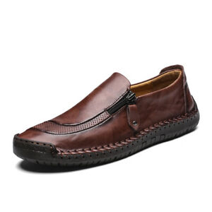 Mens Loafers Pull On Leather Shoes Casual Driving Moccasins Loafers Comfortable