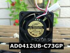 ADDA AD0412UB-C73GP Daul ball Speed measurement fan DC12V 0.2A 40*40*20mm 3pin