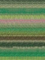 NORO Shiro #05 - Wool Cashmere Silk - DK - Lime Olive Rose FREE SHIPPING