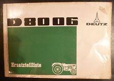 Deutz Schlepper D 8006 Ersatzteilkatalog