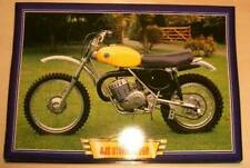 AJS STORMER 250 CLASSIC MOTOCROSS SCRAMBLER 1995 MOTORCYCLE PICTURE 1990'S PRINT