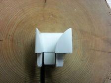 1 Stück PVC Rolladen Einlauftrichter Softline NR:12 Rechts  Weiß 39x44mm Aktion