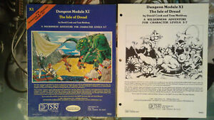 Dungeons & Dragons THE ISLE OF DREAD Module X1 TSR 9043 Blue Cover #1
