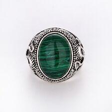 Men's/Women's Silver malachite RING Fashion Jewelry Size 8