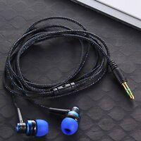 Noise Isolating Stereo Earphone Headphone Earplug Earbud