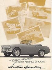 Austin-Healey 1966-67 UK Market Foldout Sales Brochure Sprite MkIV 3000 MKIII