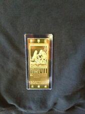 Miami Dolphins vs. Washington Redskins Super Bowl VII 22kt Gold Ticket (NEW)