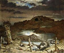 """World War 1 Art Print 10x8"""" 'Zonnebeke' William Orpen 1918 - reprint"""