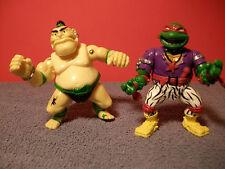 1991 Teenage Mutant Ninja Turtles Heavy Metal Ralph & Tattoo TMNT  Loose