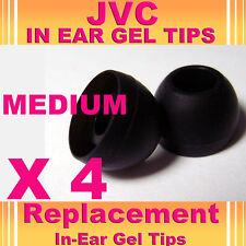 4 x JVC In Ear Bud Head Phones Gel Tip Covers Medium