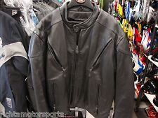 New Mossi SPORT VENT Leather Motorcycle Jacket - Size 48 - 20-113B-48