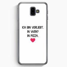 Ich Bin Verliebt - In Wen? In Pizza Samsung Galaxy J6+ Plus (2018) Hülle Moti...