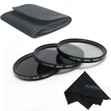 3pcs 55mm Neutral Density ND2 ND4 ND8 ND 2+4+8 Filter Set 55 mm Kit New
