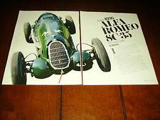 1936 ALFA ROMEO 8C-35 ***ORIGINAL 1990 ARTICLE***