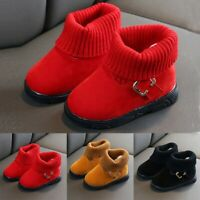 Toddler Infant Kids Baby Girls Winter Warm Solid Short Boots Booties Daily Shoes