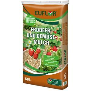 EUFLOR Erdbeer und Gemüsemulch natürliches Abdeckmaterial, 50 Liter