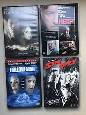 Lot of 4 Dvd Movies Sin City Heist Hollow Man Cold Creek Manor All Good Cond