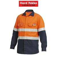 Mens Hard Yakka Protect ShieldTec Hi-Vis Fire Resistant Safety Shirt Top Y04350