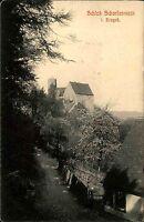 Schloss Scharfenstein bei Meißen Sachsen Erzgebirge ~1910 alte s/w Ansichtskarte