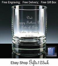 Personalised 12oz Whisky/ Spirit Glass, Fathers Day Gift, Dad / Grandad Gift
