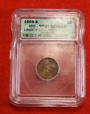 1909-S LINCOLN WHEAT CENT PENNY VF-30 details SCARCE DATE ICG 1159600201