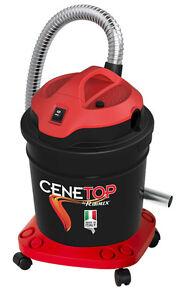 Bidone aspiracenere aspirapolvere soffiatore elettrico 18 litri RIBITECH Cenetop