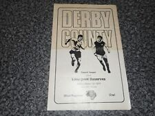 DERBY COUNTY  reserves  v   LIVERPOOL   reserves  1970/1 MARCH 19th  *FREE POST*