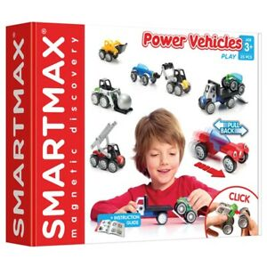 SmartMax Power Vehicles - Magnetic Mix and Match Car & Truck Construction Set