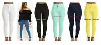 Ladies High Waisted Skinny stretchy pencil tube Jeans Jeggings Pants; 4 to 16