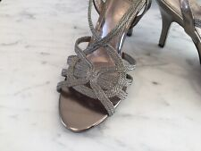 Adrianna Papell Gold Metallic Strappy Dress Sandal Size 4.5 Worn Once Glamorous