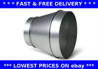 Reducer increaser extractor fan ventilation pipe connector steel ducting taper