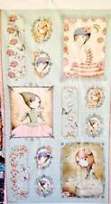 Santoro Mirabelle Sage Girls Block Quilting Treasures Fabric Panel