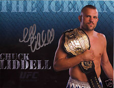 CHUCK THE ICEMAN LIDDELL UFC AUTOGRAPH SIGNED PP PHOTO POSTER