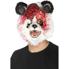 Zombie Panda Mask Black White Blood Covered Full Face Fancy Dress Accessory
