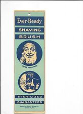Vintage Ever Ready Shaving Brush Advertising Card Trade Blotter American Razor