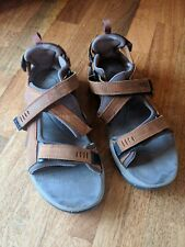 Teva Leather Hiking Sandals Brown And Grey Men's Size 11