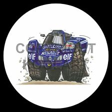 Koolart 4x4 4 x 4 Spare Wheel Graphic Renault Paris - Dakar Sticker 1042