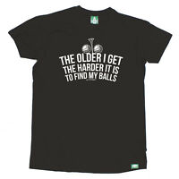 Golf T-Shirt Funny Novelty Mens tee TShirt - The Older I Get The Harder It Is