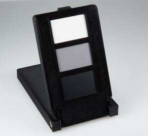 Black, White and Grey Photographic Colour Balance Checker / Card