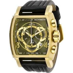 Invicta S1 Rally 27953 Men's Oilve Analog Chronograph Date Tonneau Leather Watch