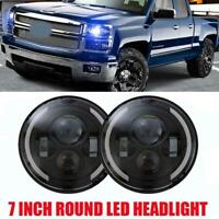 7 Inch Round LED Headlight Hi/Low Beam Angle Eye For Jeep Wrangler 4x4 Truck SUV