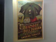 "VTG Bull Durham BLACK AMERICANA Tobacco Poster ""MY IT SHURE AM SWEET"" 21 X 27"